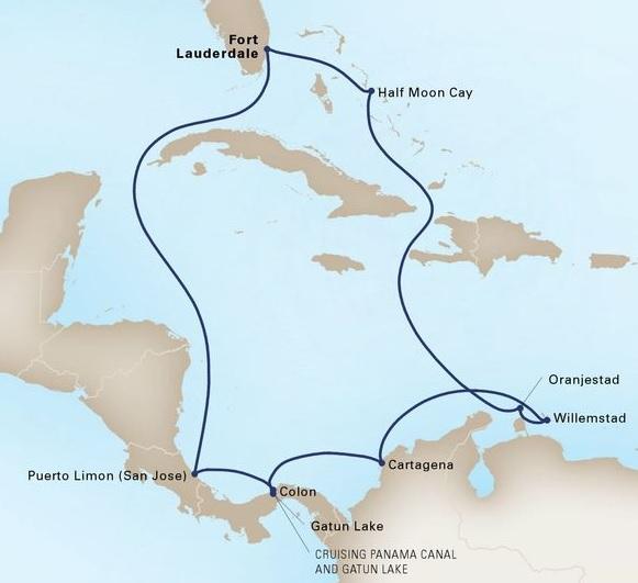 11-Day Panama Canal Sunfarer