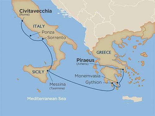 7 days - Enchanting Greece & the Amalfi Coast [Rome to Athens]