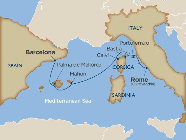 7 days - Mediterranean Island Mosaic [Rome to Barcelona]