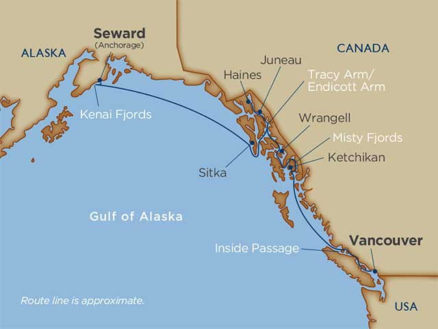 11 days - Alaskan Splendors [Seward [Anchorage] to Vancouver]