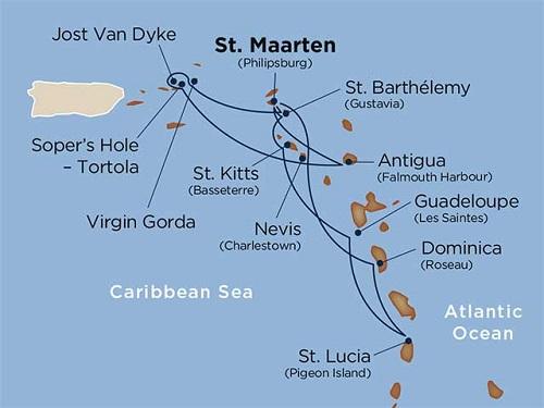 14 days - Star Collector: Caribbean Explorations [St. Maarten to St. Maarten]