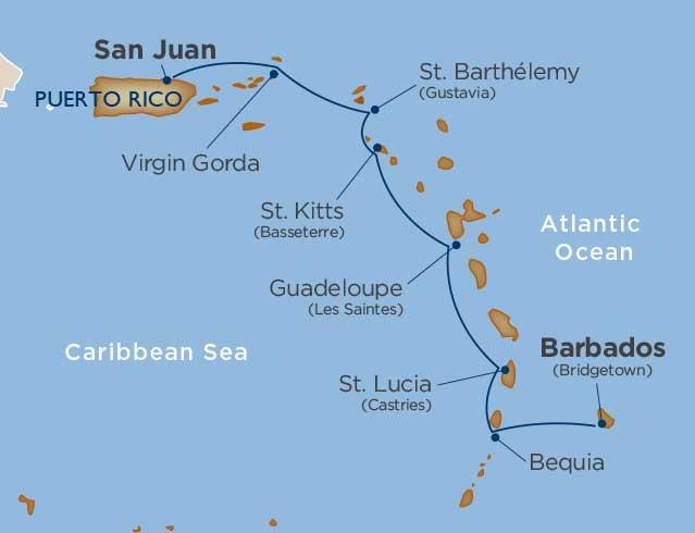 7 days - Antilles Island Hopping [Bridgetown to San Juan]