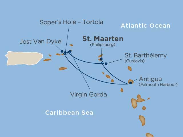 7 days - Yachtsman's Caribbean [St. Maarten to St. Maarten]